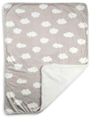 Living Textiles THE Cloud-Print Velour Blanket