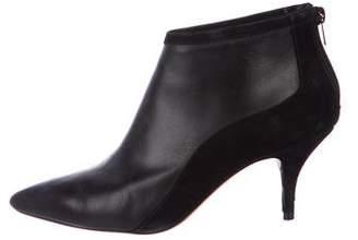 Loeffler Randall Leather Pointed-Toe Booties