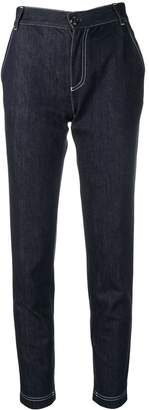 Fendi contrast stitch jeans