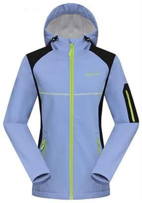 Partiss Women's Winter Ski Jacket Hooded Fleece Windproof Outerwear Jacket(Chinese XXL,)