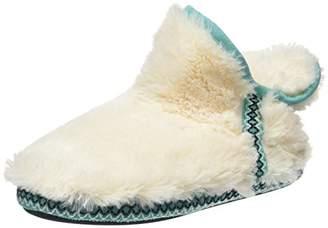Dearfoams Women''s Pile Boot w/Fairisle Trim Hi-Top Slippers,L 40/41 EU