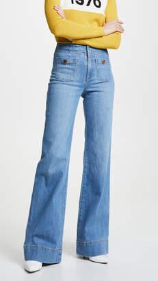 Alice + Olivia JEANS Gorgeous Wide Leg Jeans