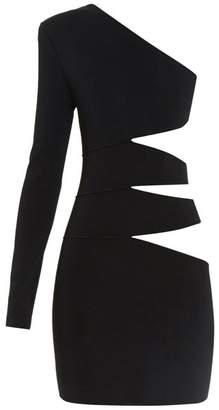 Balmain Cutaway-side one-shoulder mini dress