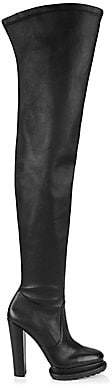 Alice + Olivia Women's Joyen Over-The-Knee Platform Leather Boots