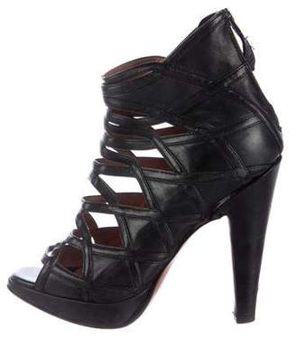 Alaia Leather Cage Sandals