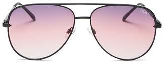 Quay Women's #QUAYXDESI Sahara Aviator Sunglasses, 58mm
