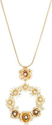 Fragments for Neiman Marcus Floral Hoop Pendant Necklace