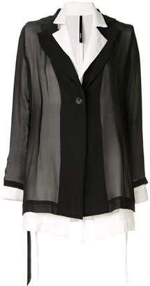 Taylor contrast sheen cover blazer