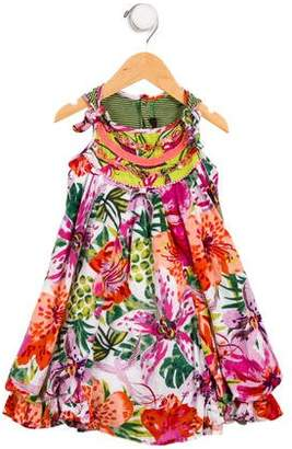 Catimini Girls' Floral A-Line Dress