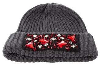 Paule Ka Wool Jewel-Embellished Beanie
