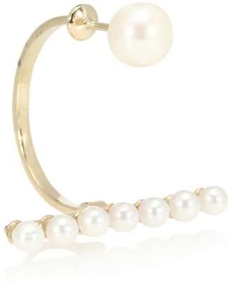 Delfina Delettrez Vein 9kt gold earring with pearls