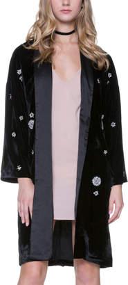 Endless Rose Velvet Beaded Kimono Jacket