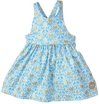 Smiling Button Golden Chickadee Sleeveless Dress, Size 18M-6