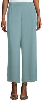 Eileen Fisher Silk Georgette Wide-Leg Pants $258 thestylecure.com