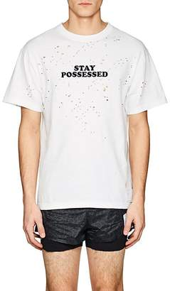 "Satisfy Men's ""Stay Possessed"" Distressed Cotton T-Shirt"