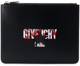 Givenchy star logo print pouch