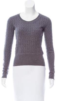 Miu Miu Wool Scoop Neck Sweater
