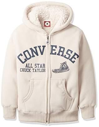 Converse (コンバース) - (コンバース)CONVERSE ボーイズ・ガールズ・フルジップパーカー OTH-512 93 ベージュ 140