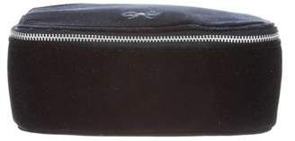 Anya Hindmarch Velvet Zip-Around Cosmetic Bag