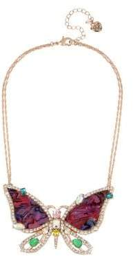 Betsey Johnson Paradise Lost Butterfly Crystal Pendant Necklace