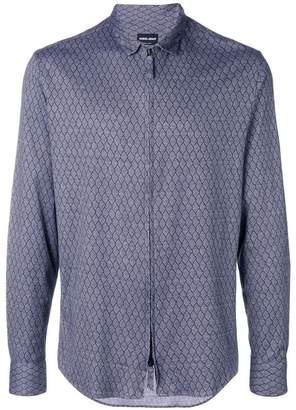 Giorgio Armani diamond print shirt