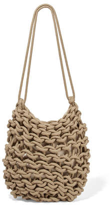 Alienina Kati Woven Cotton Shoulder Bag - Army green