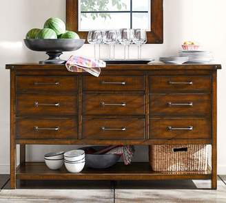Pottery Barn Benchwright Entertaining Console Table & Hutch