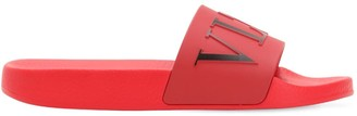 Valentino Vltn Logo Pvc Slide Sandals