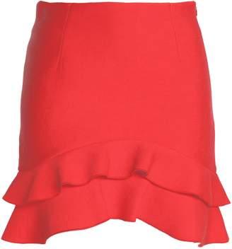 Sandro Ruffled Pleated Crepe De Chine Mini Skirt