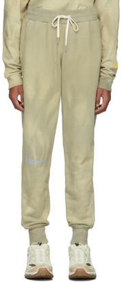 John Elliott Beige and Green CAT Edition Double Dye Lounge Pants