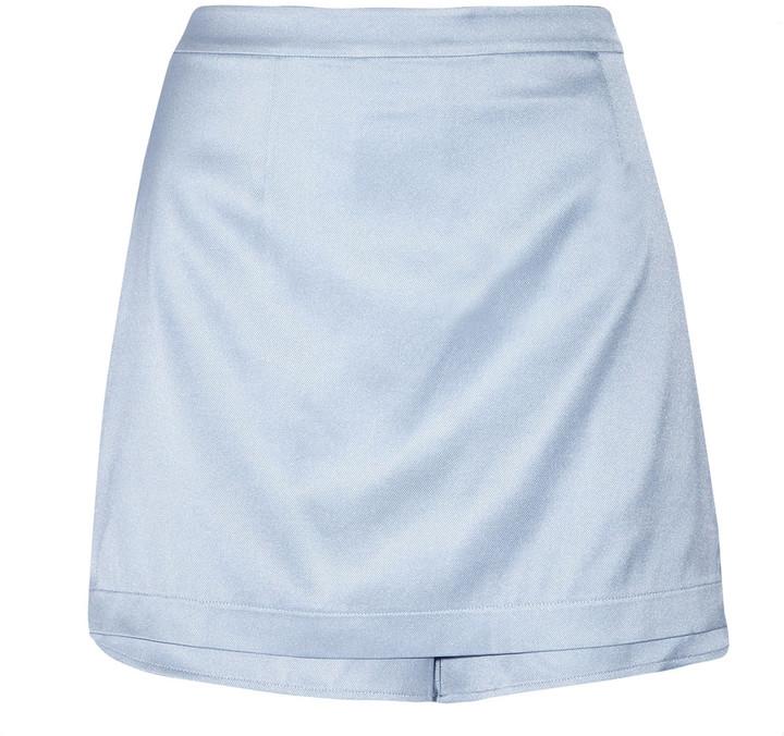 Alexander WangT by Alexander Wang Layered stretch-silk shorts