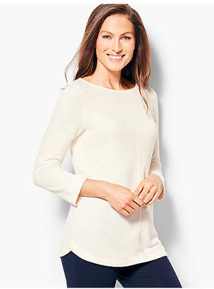Talbots Textured French Terry Tunic Top