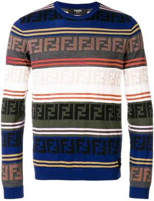 Fendi logo stripe sweater