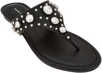 Marc Fisher Thong Sandals w/ Jewel Accents - Gissel