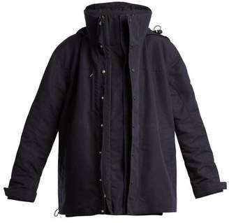 Vetements High Neck Oversized Jacket - Womens - Navy