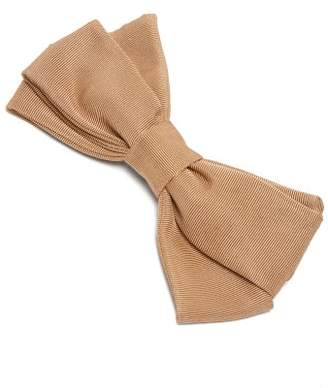 Emilia Wickstead Kennedy Bow Shaped Cotton Faille Hair Clip - Womens - Beige