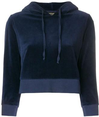 Juicy Couture cropped velvet hoodie