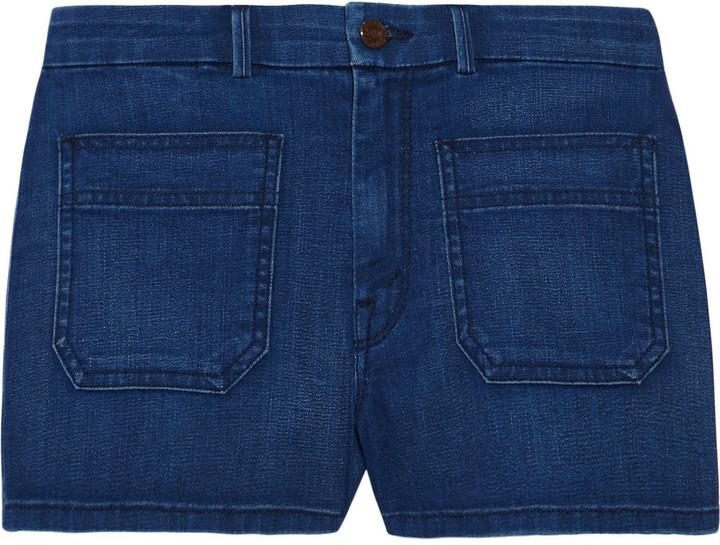 Mother High-rise denim shorts