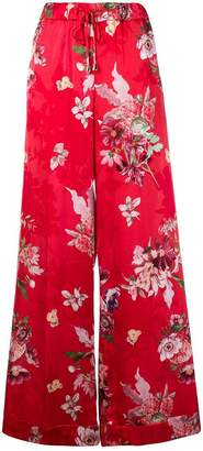 Twin-Set wide leg floral trousers