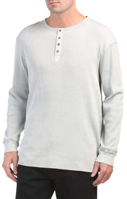 Enzyme Washed Henley Top