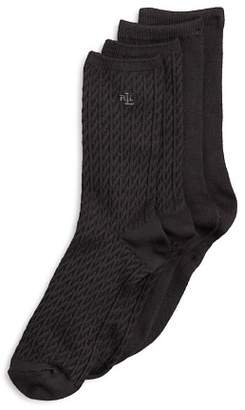 Ralph Lauren Cable Trouser Super Soft Socks, Set of 2