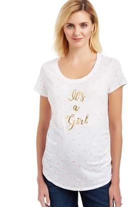 Motherhood Maternity It's a Girl Polka Dot Maternity Tee