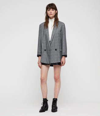 AllSaints Harriet Check Blazer