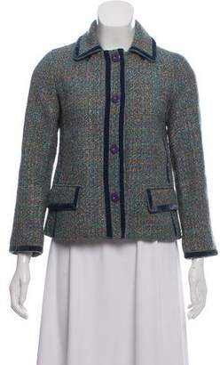 Marc by Marc Jacobs Tweed Velvet-Trimmed Jacket