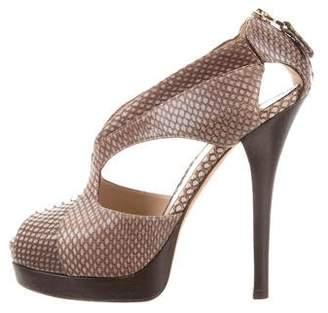 Fendi Cutout Platform Sandals