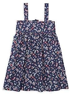 Smiling Button Little Girl's & Girl's Bandana Swing Dress
