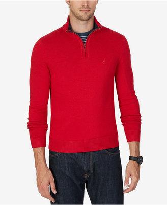 Nautica Men's Big & Tall Quarter-Zip Sweater $79.50 thestylecure.com
