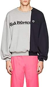 Gosha Rubchinskiy Men's Colorblocked Cotton Terry Sweatshirt-Gray