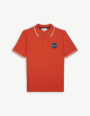 BOSS Logo cotton polo shirt 4-16 years