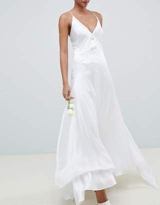 Asos Edition EDITION wedding dress with panelled seam